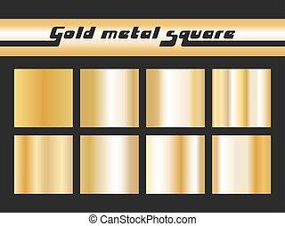 Gold gradient square