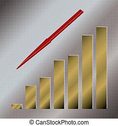 gold graph down