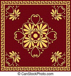 gold Greek ornament (Meander)
