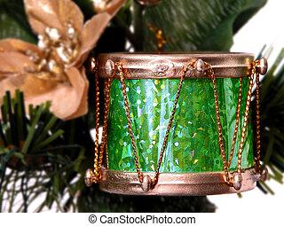 Gold & Green Drum