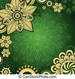 Gold-green vintage frame