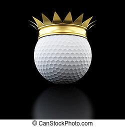 gold grown golf ball