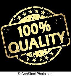 gold grunge stamp with Banner 100% quality
