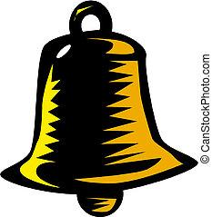Gold hand bell