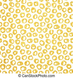 Gold Hand Drawn Dots Seamless Pattern