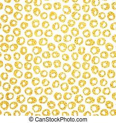 Gold Hand Drawn Dots Seamless Pattern