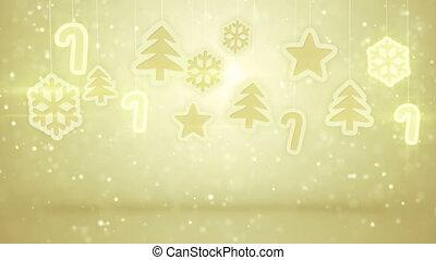 gold hanging christmas decoration