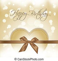 gold Happy Birthday