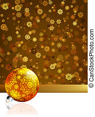 Gold happy Christmas card,winter background. EPS 8