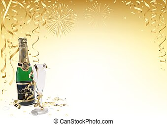 Gold Happy New Year Background