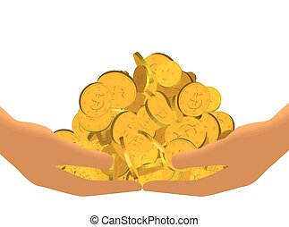 Gold Haul Vector isolated on white