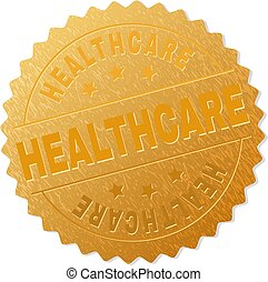 Gold HEALTHCARE Badge Stamp