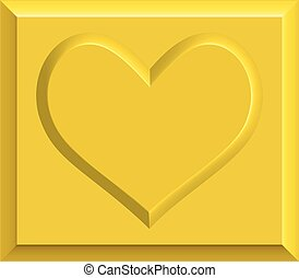 Gold heart bullion