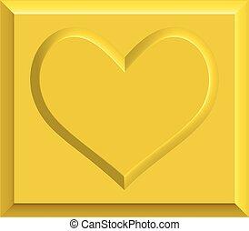 Gold heart bullion