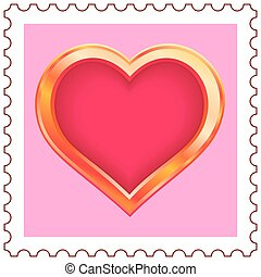 Gold Heart Stamp