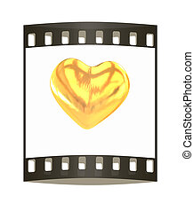 Gold heart. The film strip