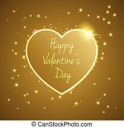 Gold Heart valentine's day light
