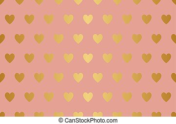 Gold hearts pattern