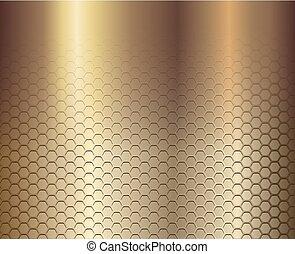 gold, hintergrund, sechsecke