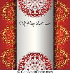 Wedding Hintergrund Einladung Arabisches Mandala Karte