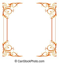 Gold holiday frame isoleted