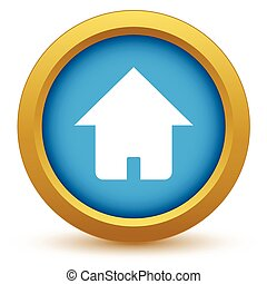 Gold home icon