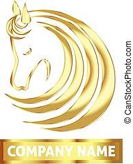 Gold horse logo