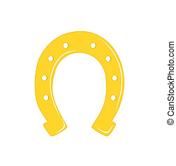 Gold horseshoe.
