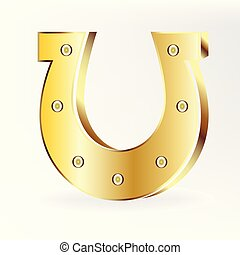 Gold horseshoe logo