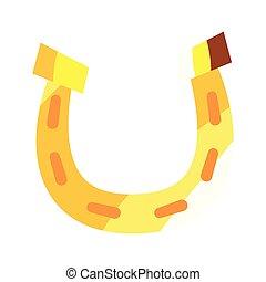 gold horseshoe lucky