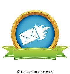 Gold hot letter logo