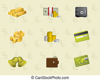 Gold icons