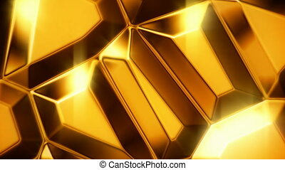 Gold ignots motion background - Moving gold bullion bars...