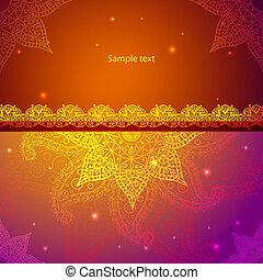 Gold Indian Vintage Ornament. Vector illustration for your ...
