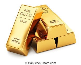 Gold ingots - Creative abstract business success, financial...