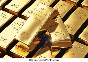 Gold ingots - Creative banking, financial success ...