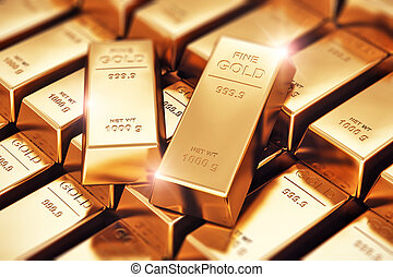 Gold ingots - Creative banking, financial success...