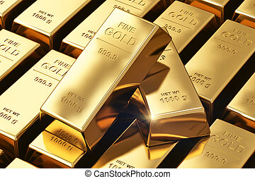 Gold ingots - Creative banking, financial success...