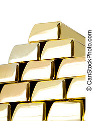 Gold ingots - The ingots of gold combined by a pyramid