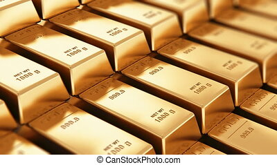 Gold ingots - Creative abstract banking, financial success...