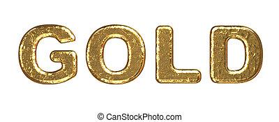 Gold inscription