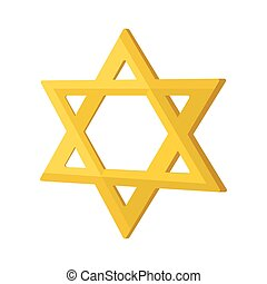 Gold jew star cartoon icon