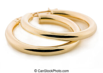 Gold Jewellery - Earrings - Pair of gold earrings