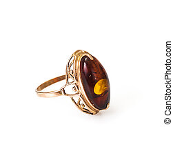 Gold Jewellery with amber