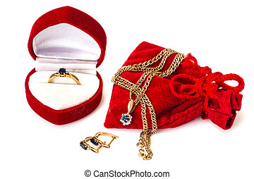 Gold Jewellery with natural sapphire