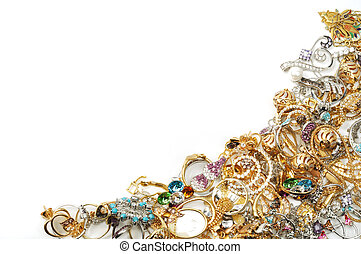 Vintage of yellow and white gold jewelry