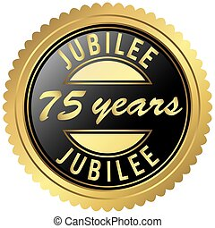 gold jubilee seal - round seal colored black and gold for...