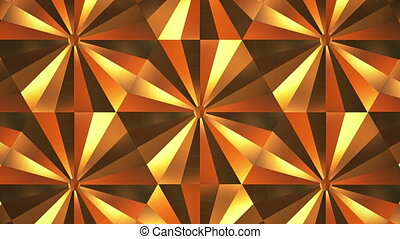 Gold Kaleidoscope Loop Backgrpund. 3d render
