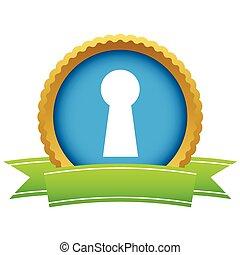 Gold keyhole logo