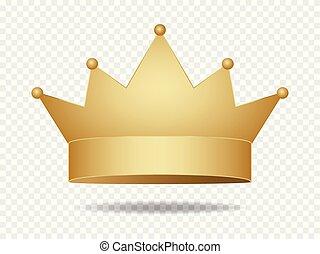 Gold king crown . Golden corona . - Gold king crown . Golden...